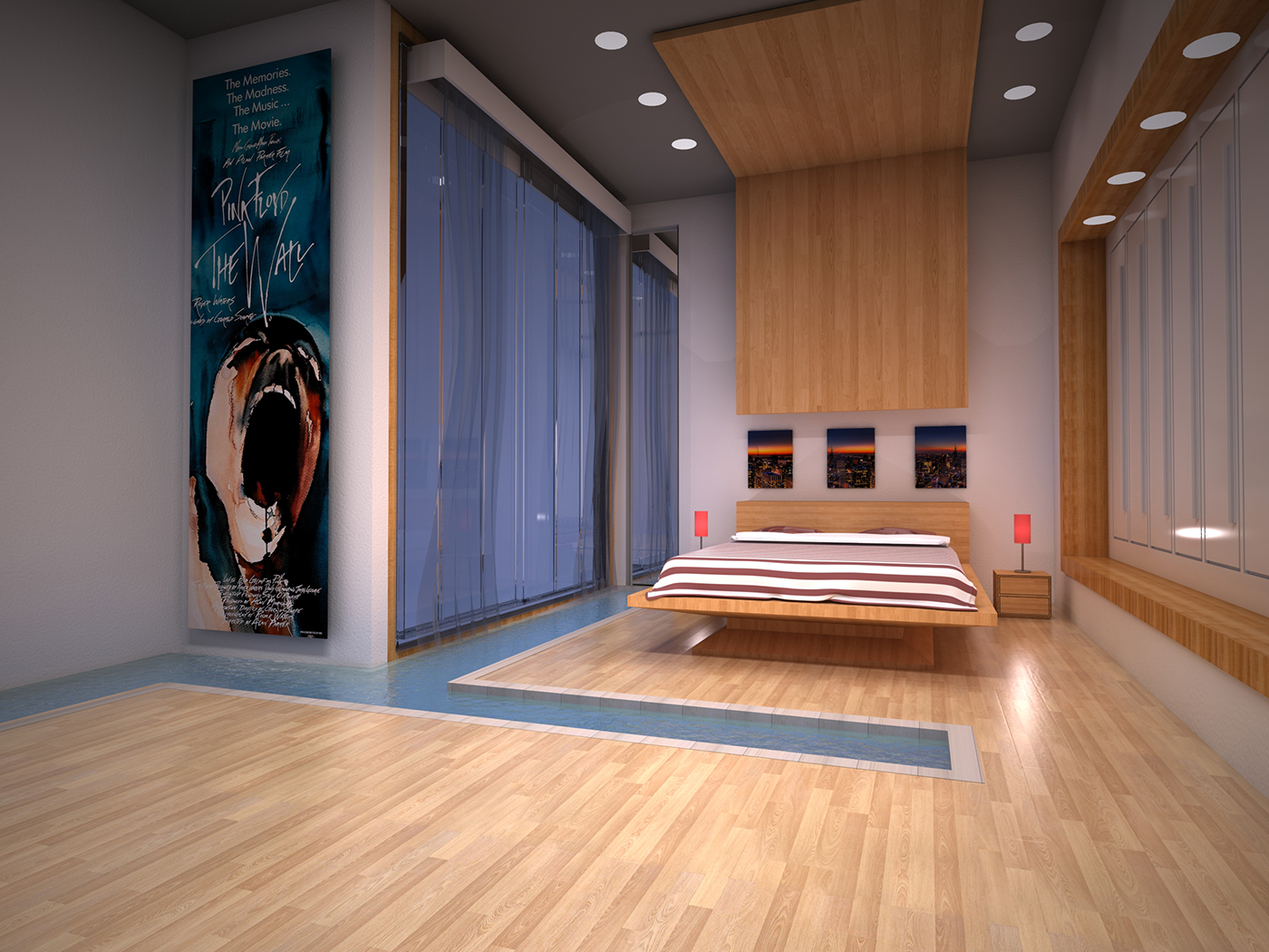 3D Modelling 3D model Render rendering 3ds 3D Studio Max graphic design Interior interno product Project material