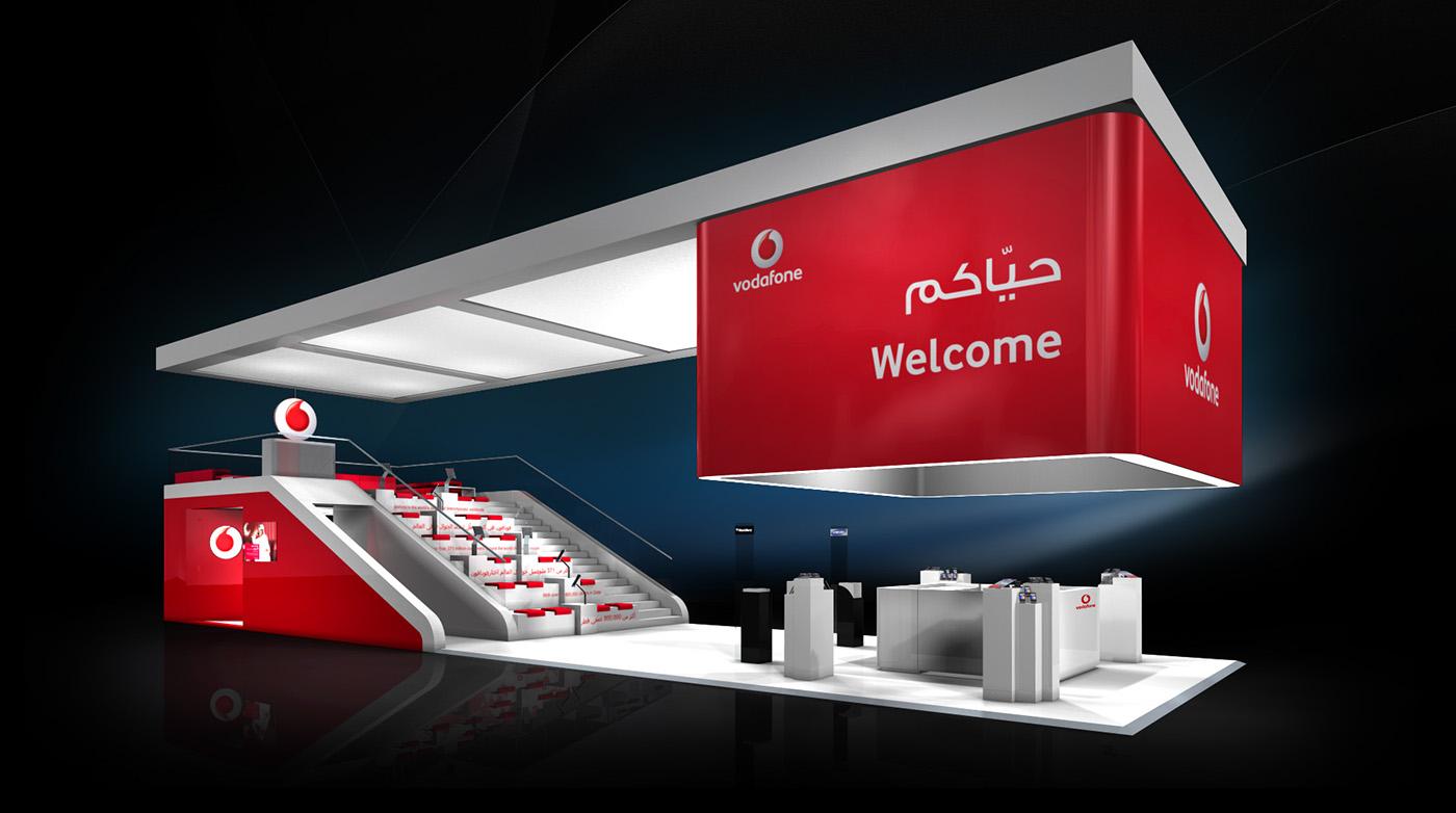 Exhibition Stand Designer Jobs In Qatar : Vodafone qatar qitcom dohar on behance
