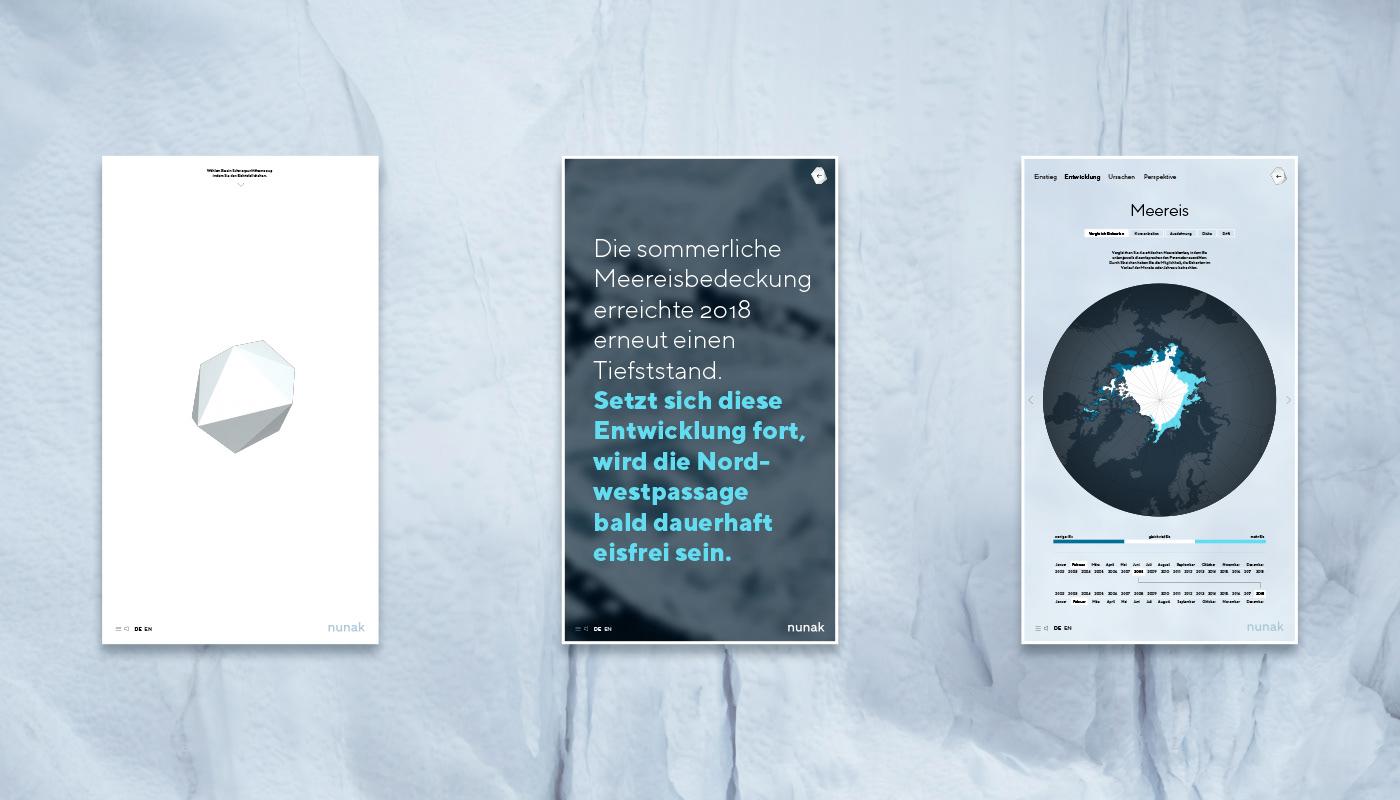 Arctic climate change information design sea ice migration Ocean awareness glacier ice ice sheet