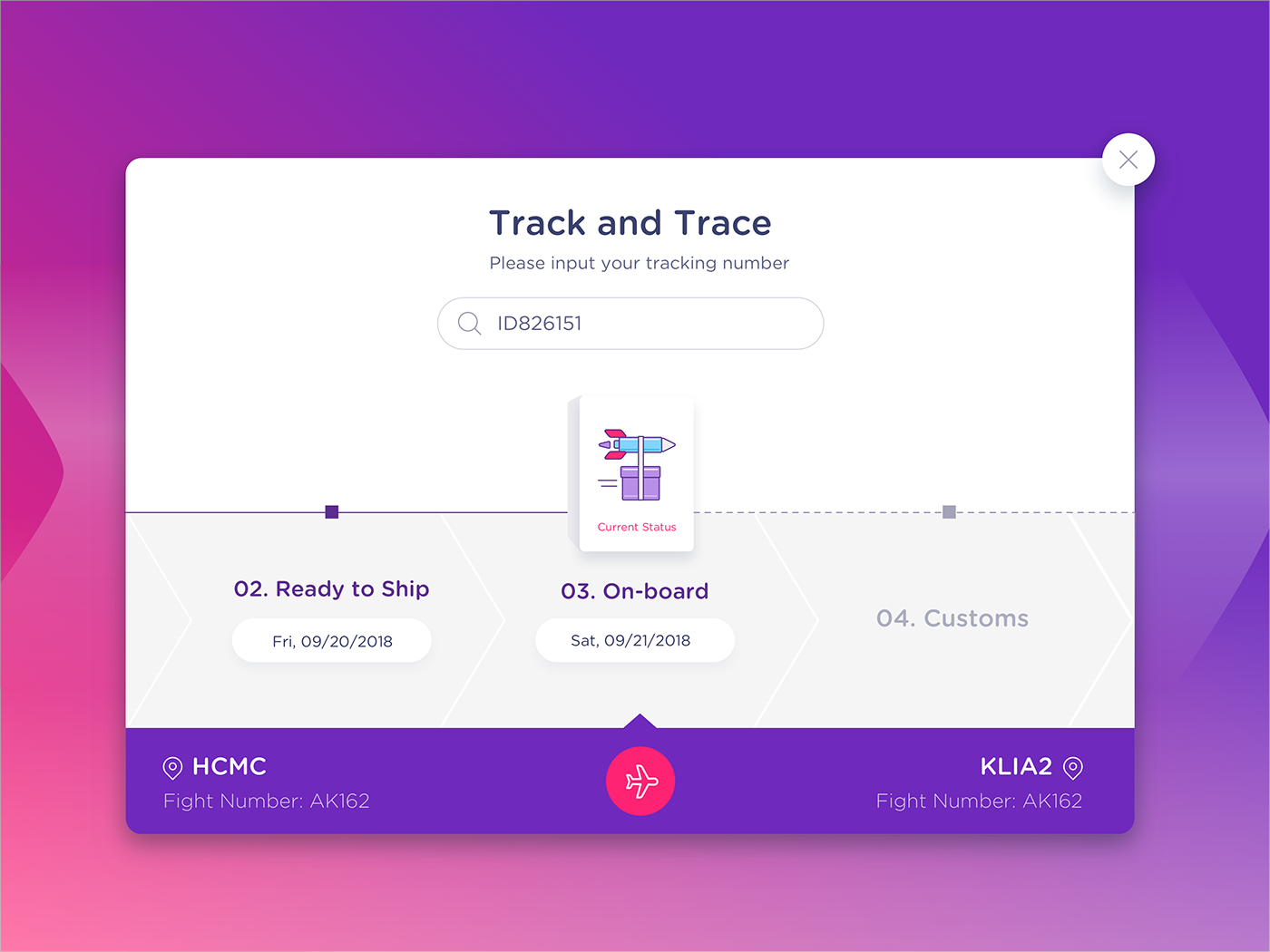 UI design ux Web delivery tracking airport plane Logistics