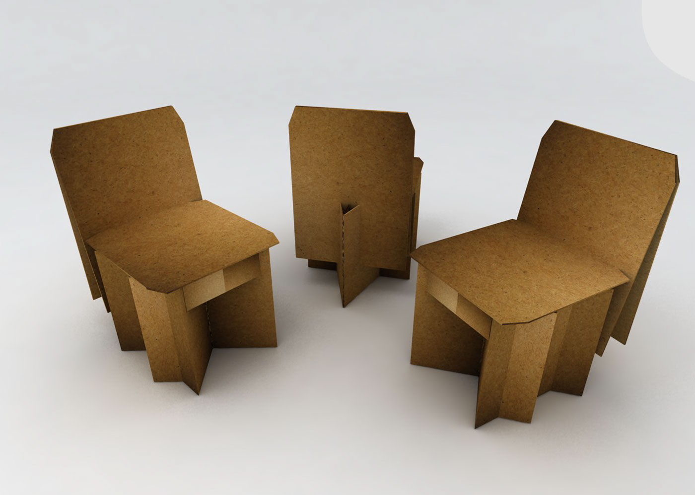 Silla de cart n plegable on behance - Sillas de carton plegables ...