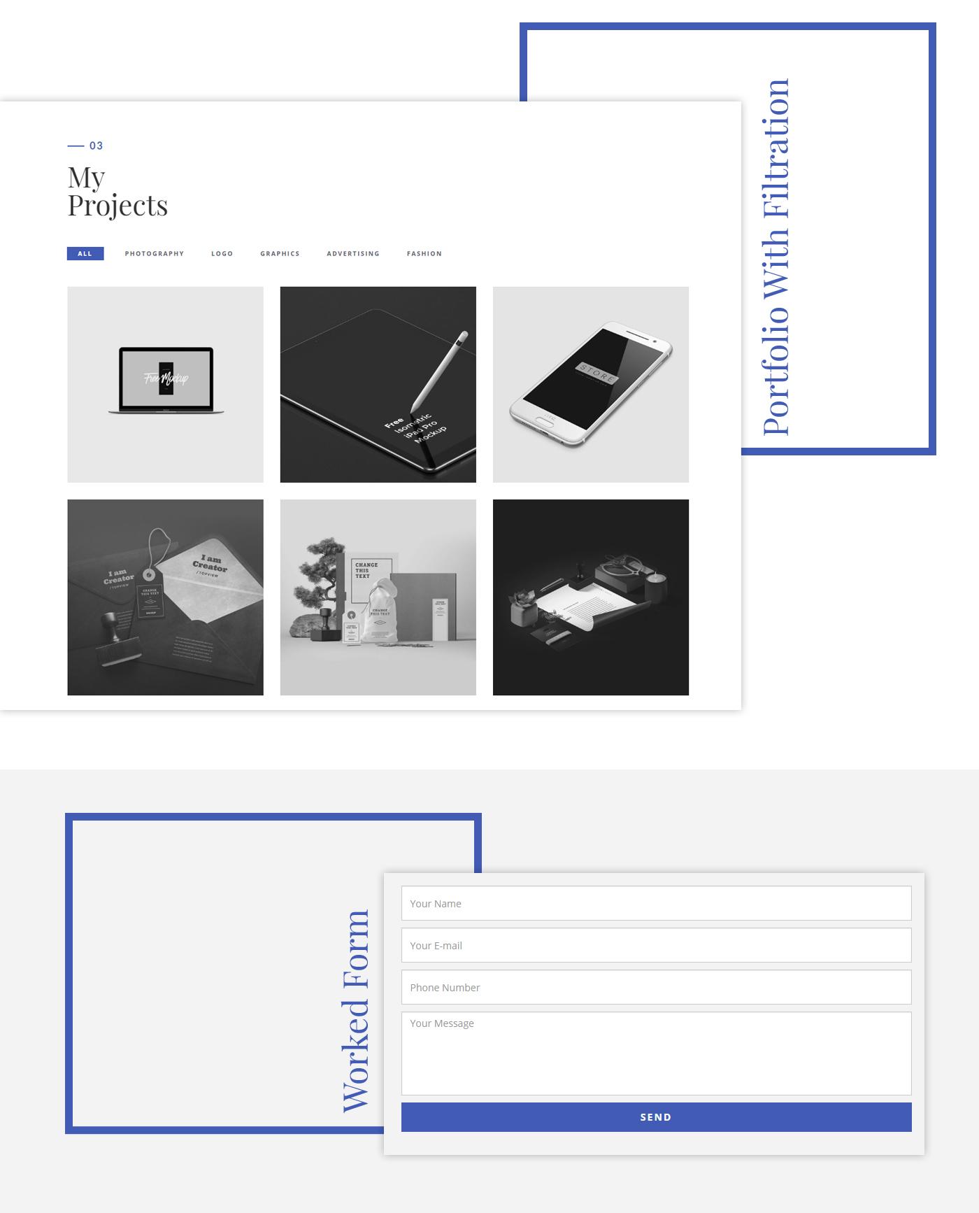 CV free freebie Resume personal HTML portfolio clean modern Responsive