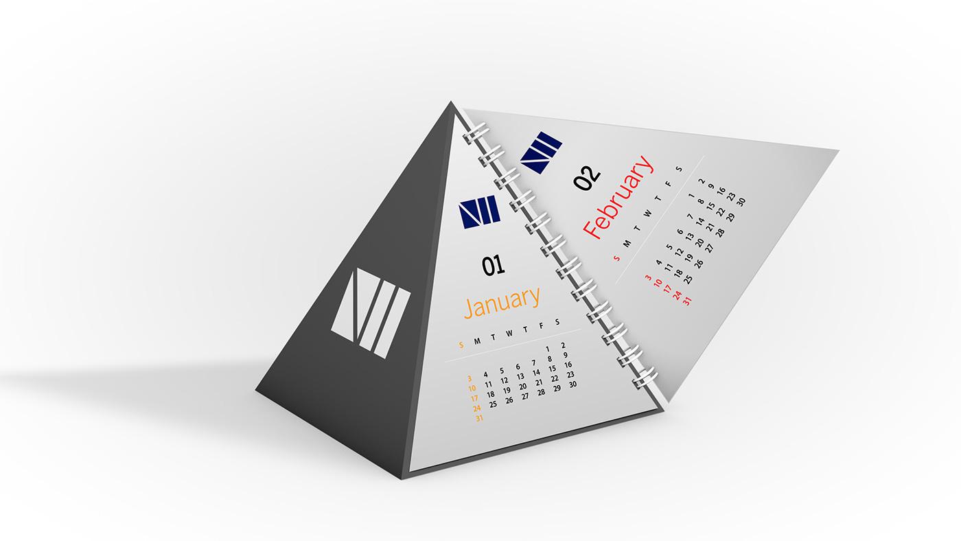 calendar,editable,free,gift,Mockup,photoshop,print,psd,pyramid,souvenir