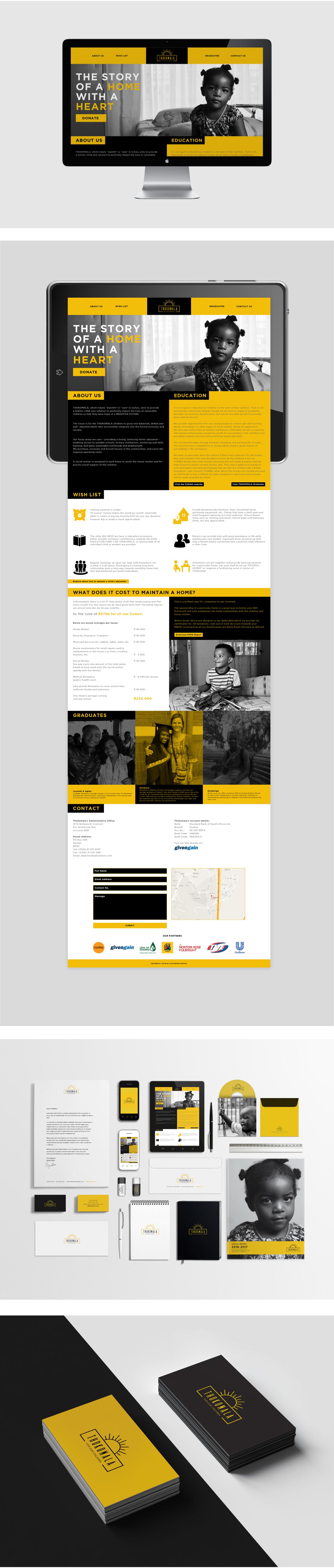 thokomala orphancare Rebrand NGO communications Website corporateidentity logo Photography  VehicleBranding