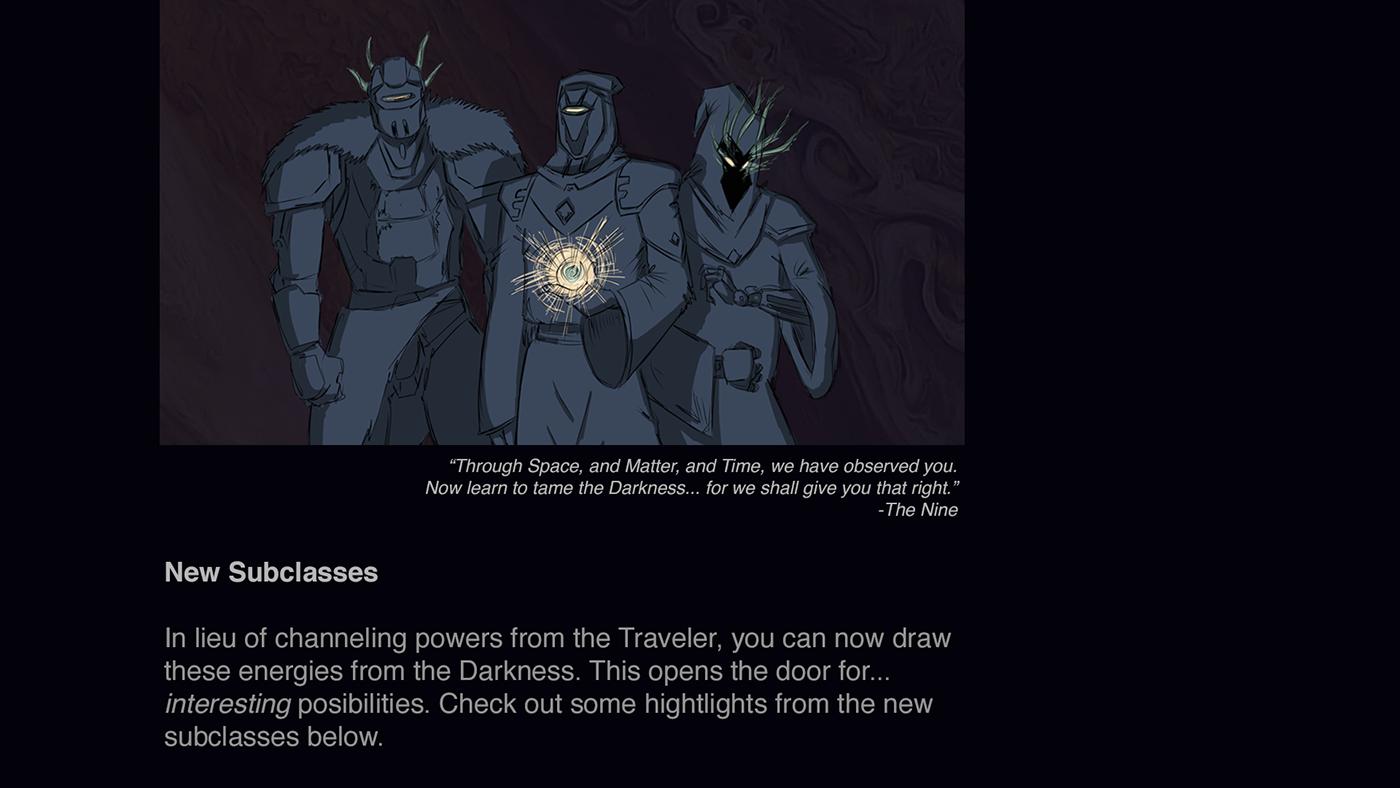 Destiny Concept  Dark Subclasses On Behance