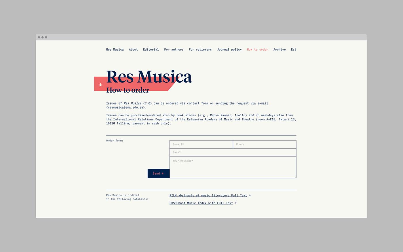 Res Musica - Web Design / Web Development