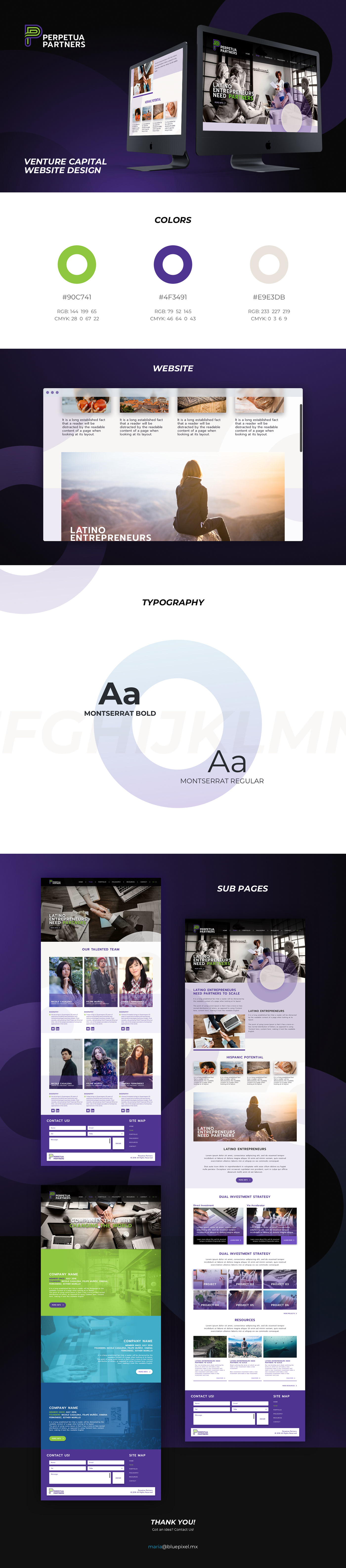 Website vc venture capital Web Design  purple green circles sleek cool clean