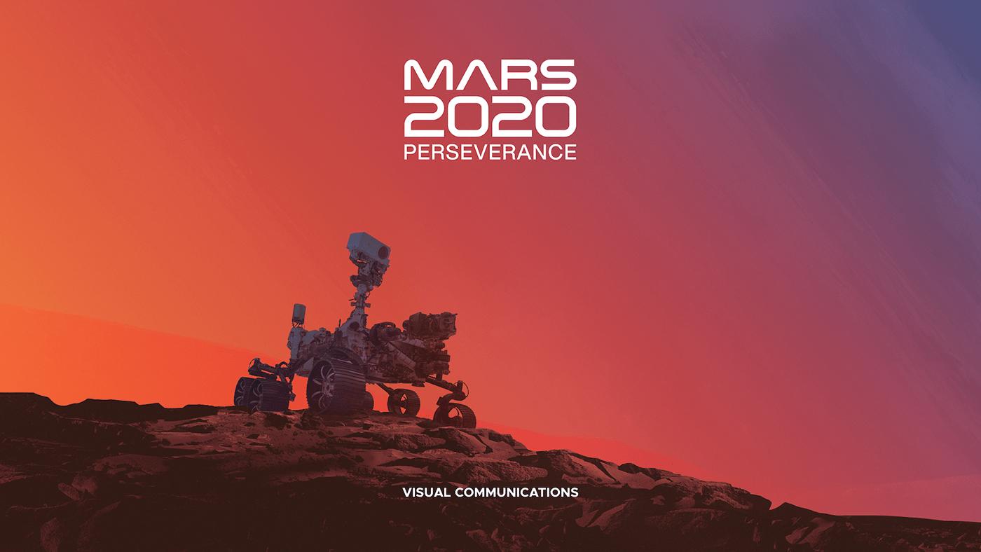 branding  Designlab exploration JPL mars mars 2020 nasa planetary robotics Space