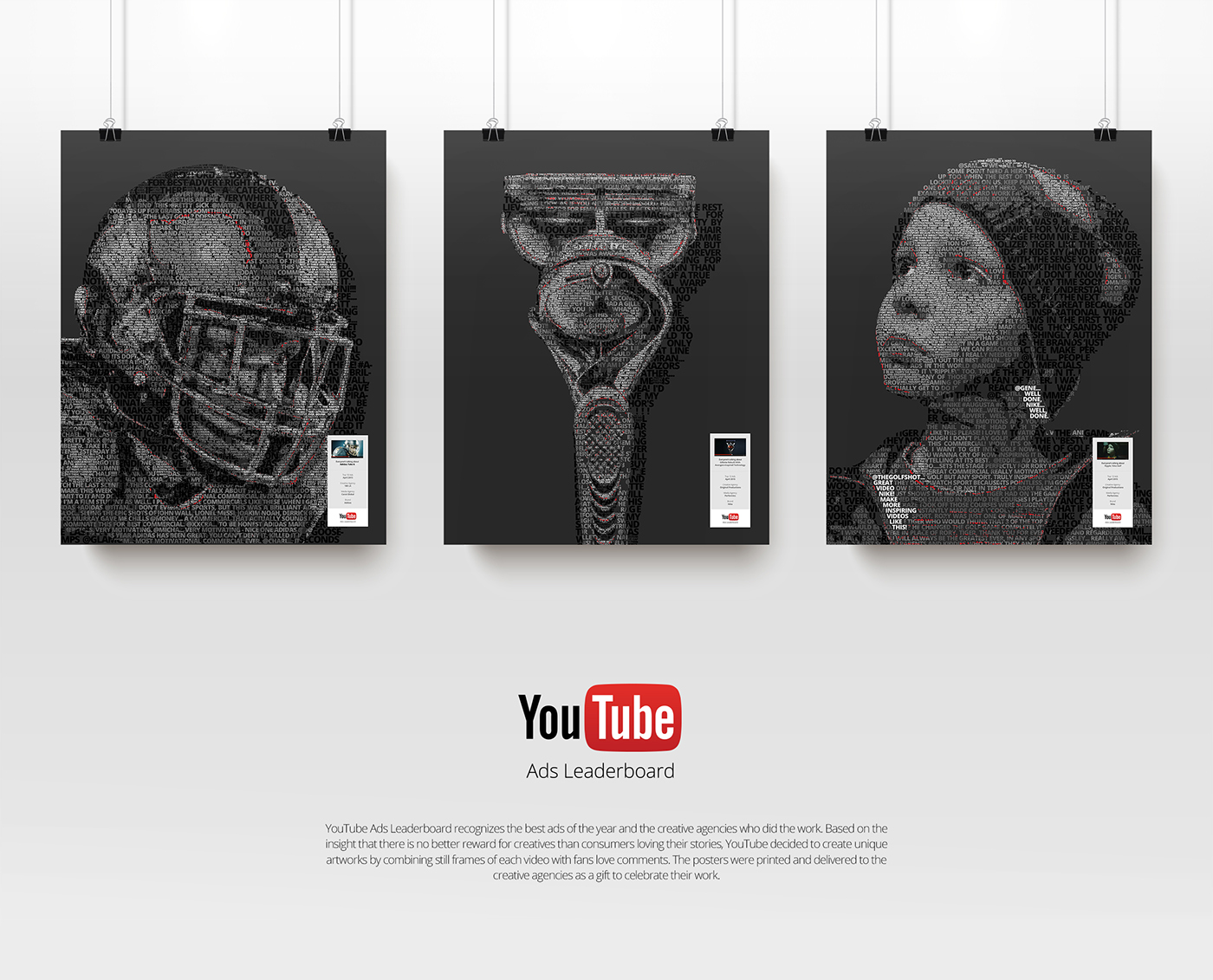 2ea02aef084 YouTube Ads Leaderboard  Top 10 Awards Poster on Behance