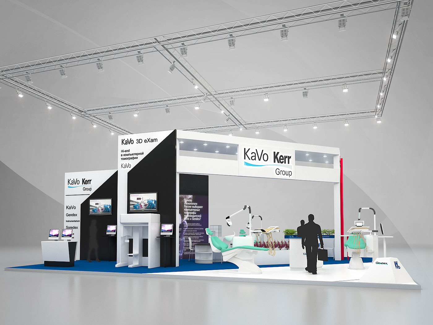 Booth Design For Exhibition : Kavodental dental salon on behance