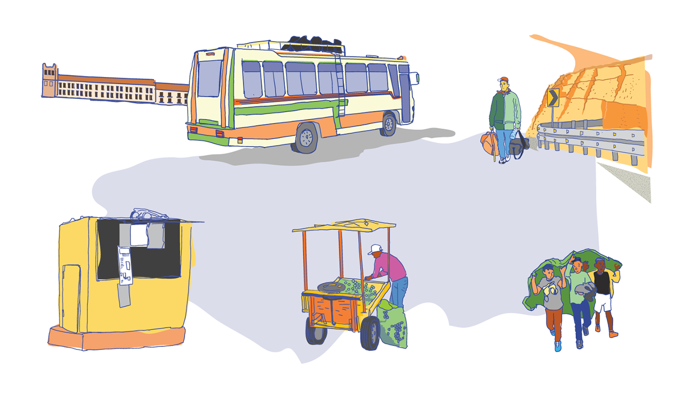 Humanitarian ILLUSTRATION  migration social