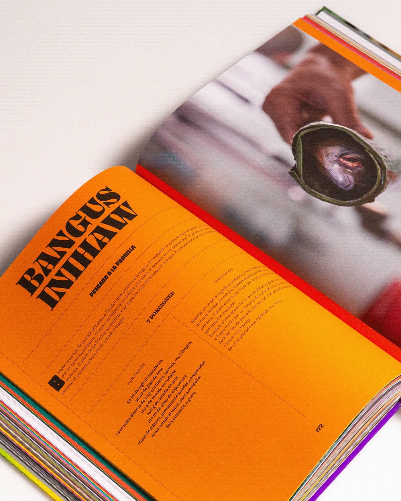 beverage big type book spine foil stamping Food  gastronomy gradient Phillipines streetfood type