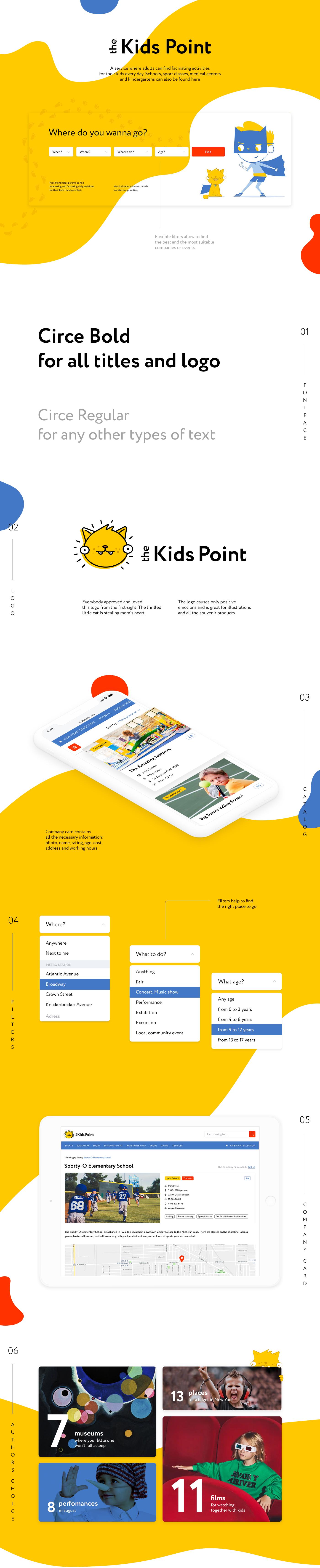 Web Design  Responsive Design illustrations landing site kids kids site Clean Design UI ux