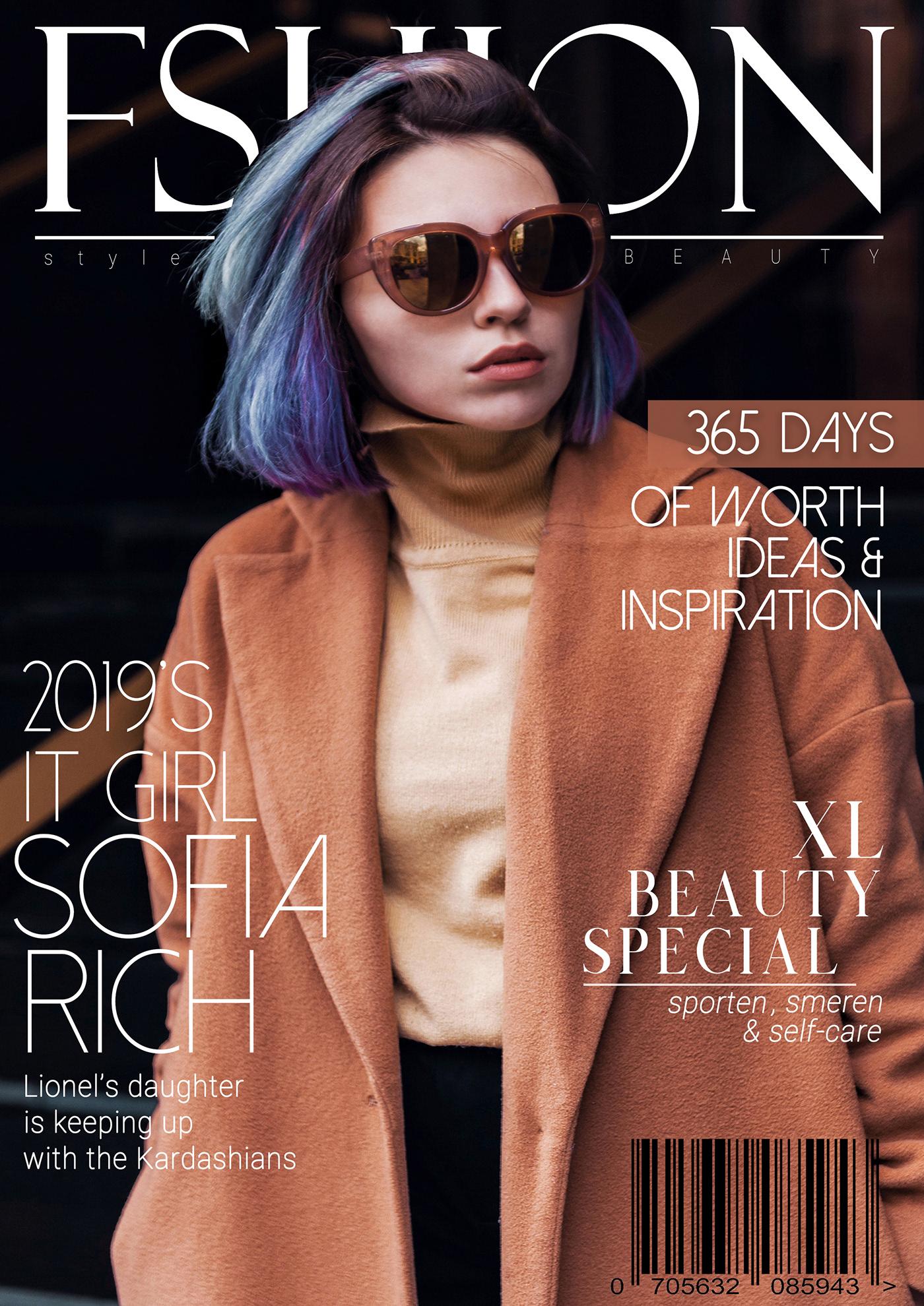 有設計感的22款時尚雜誌封面欣賞