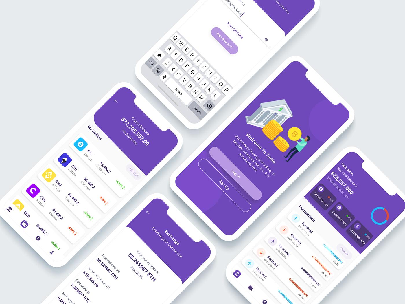 bitcoin app crypto app cryptocurrency app ui design