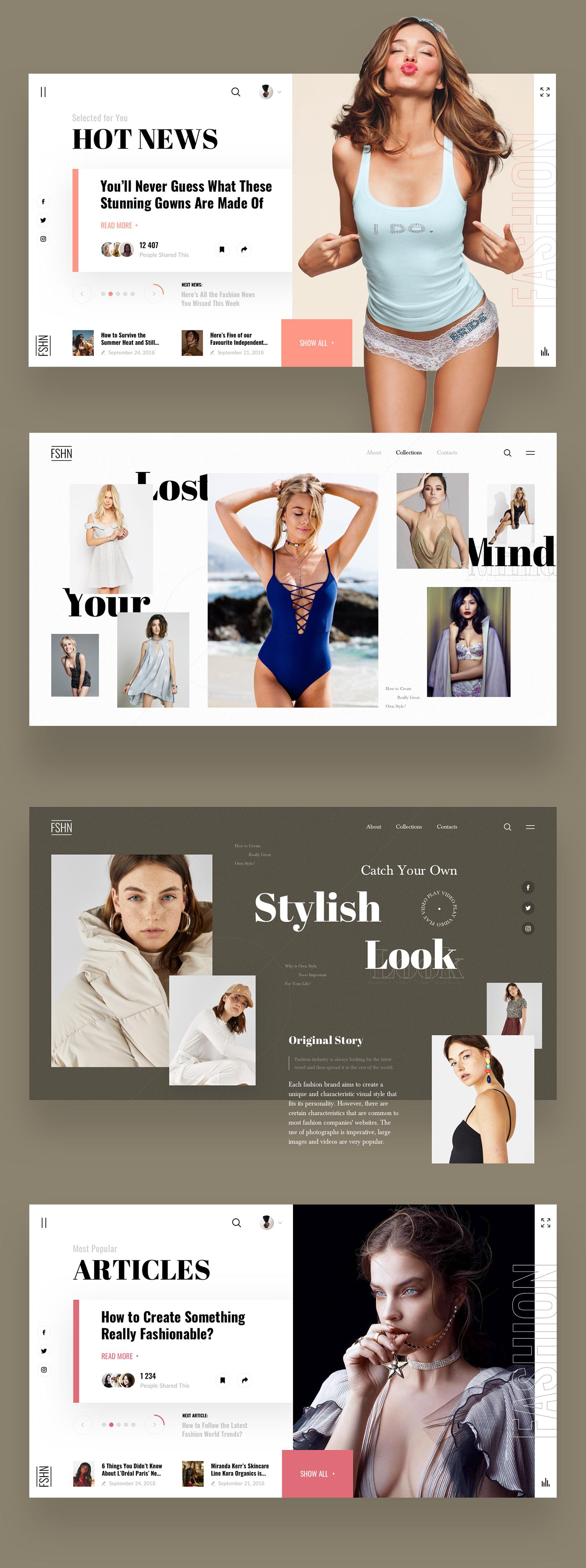 news Fashion  design UI ux