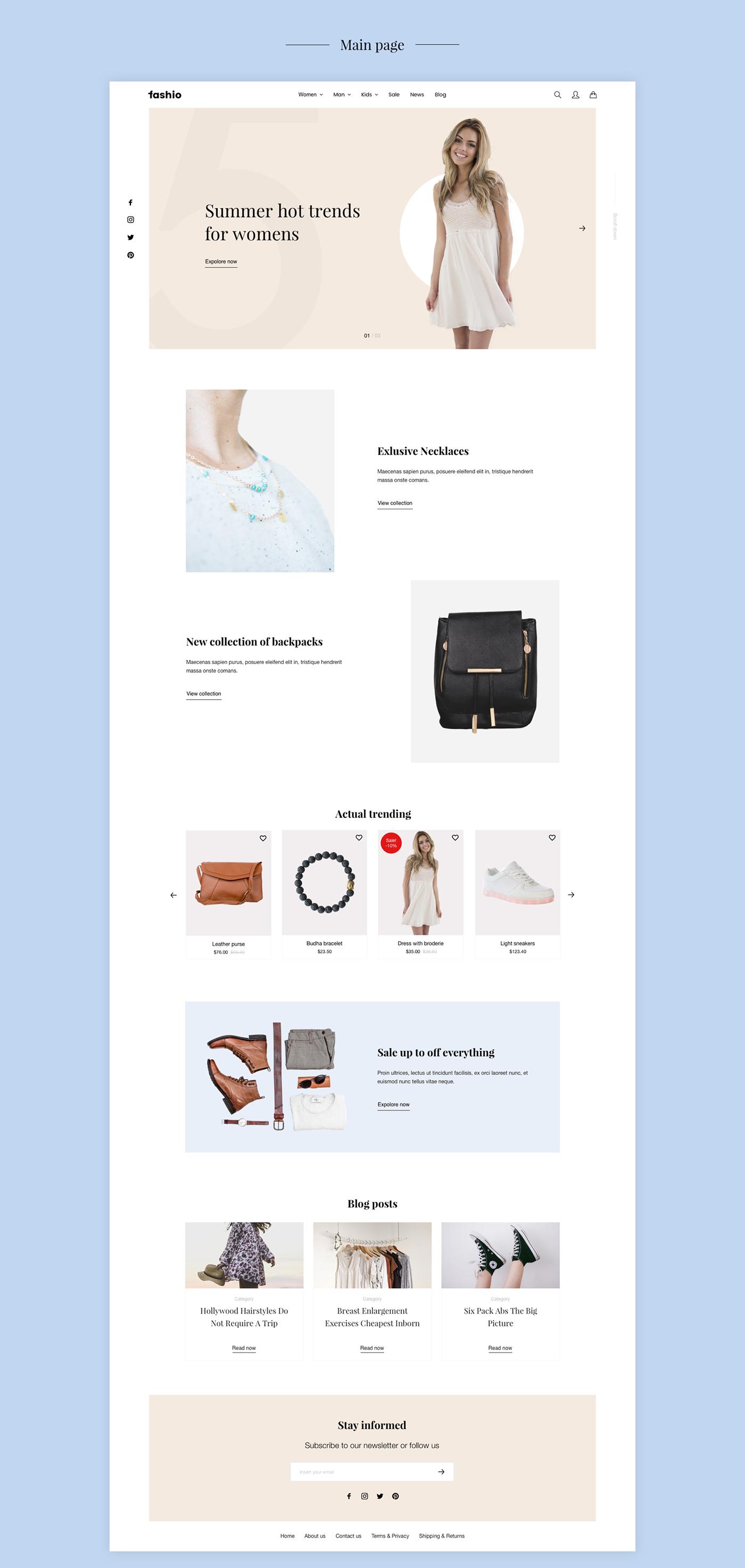 Fashion  eshop clothes eComerce