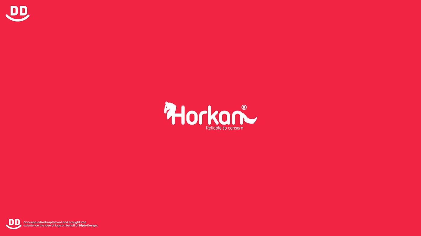 Horkan Modern  minimalist Horse logo design