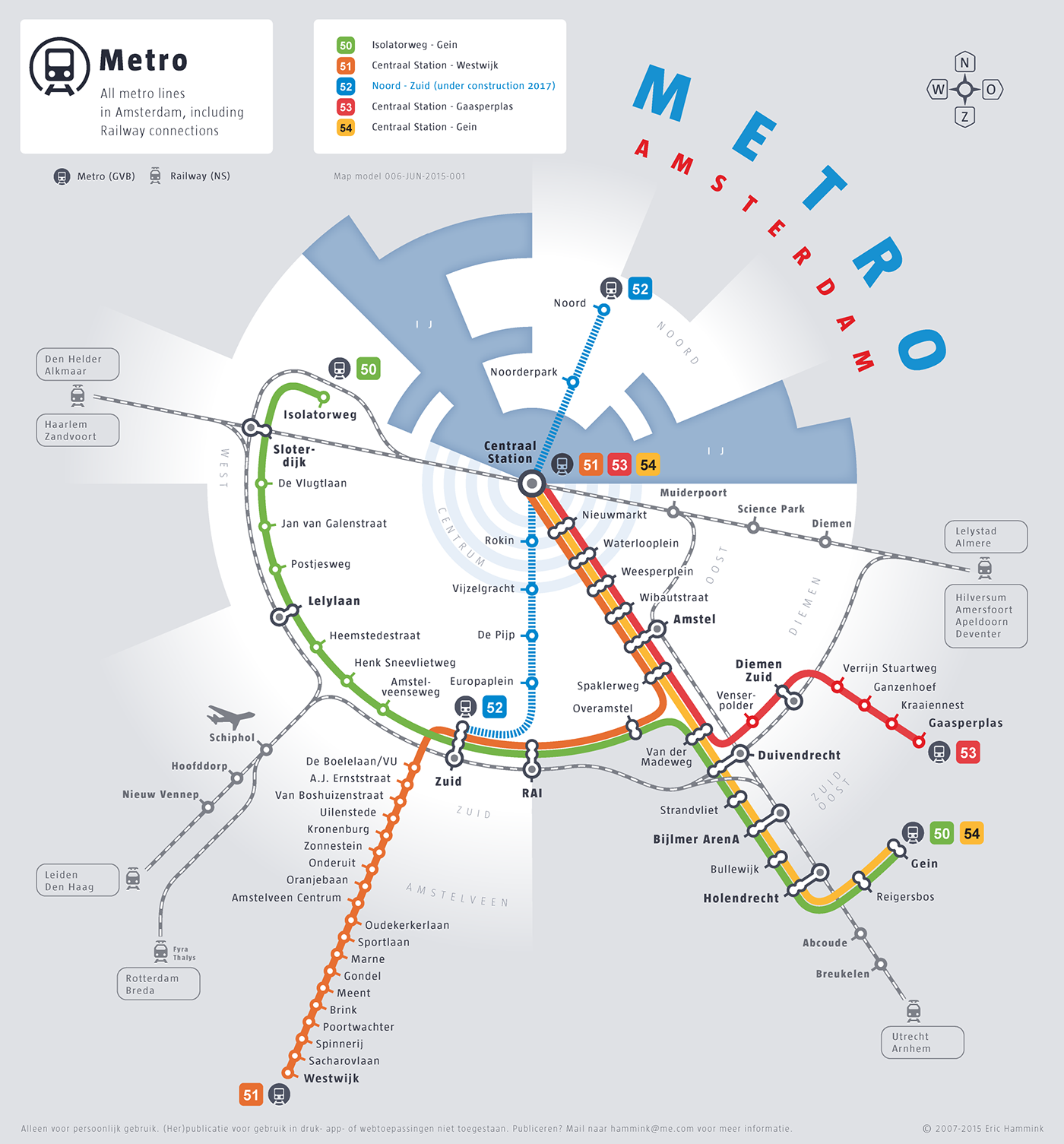 Metro Map Amsterdam on Behance