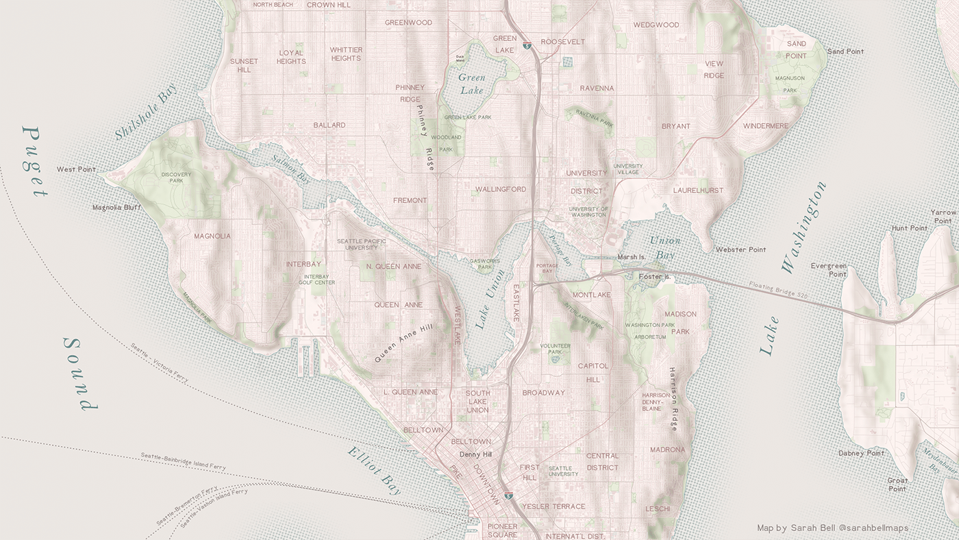cartography dataviz GIS map Mapping shoreline vancouver tutorial