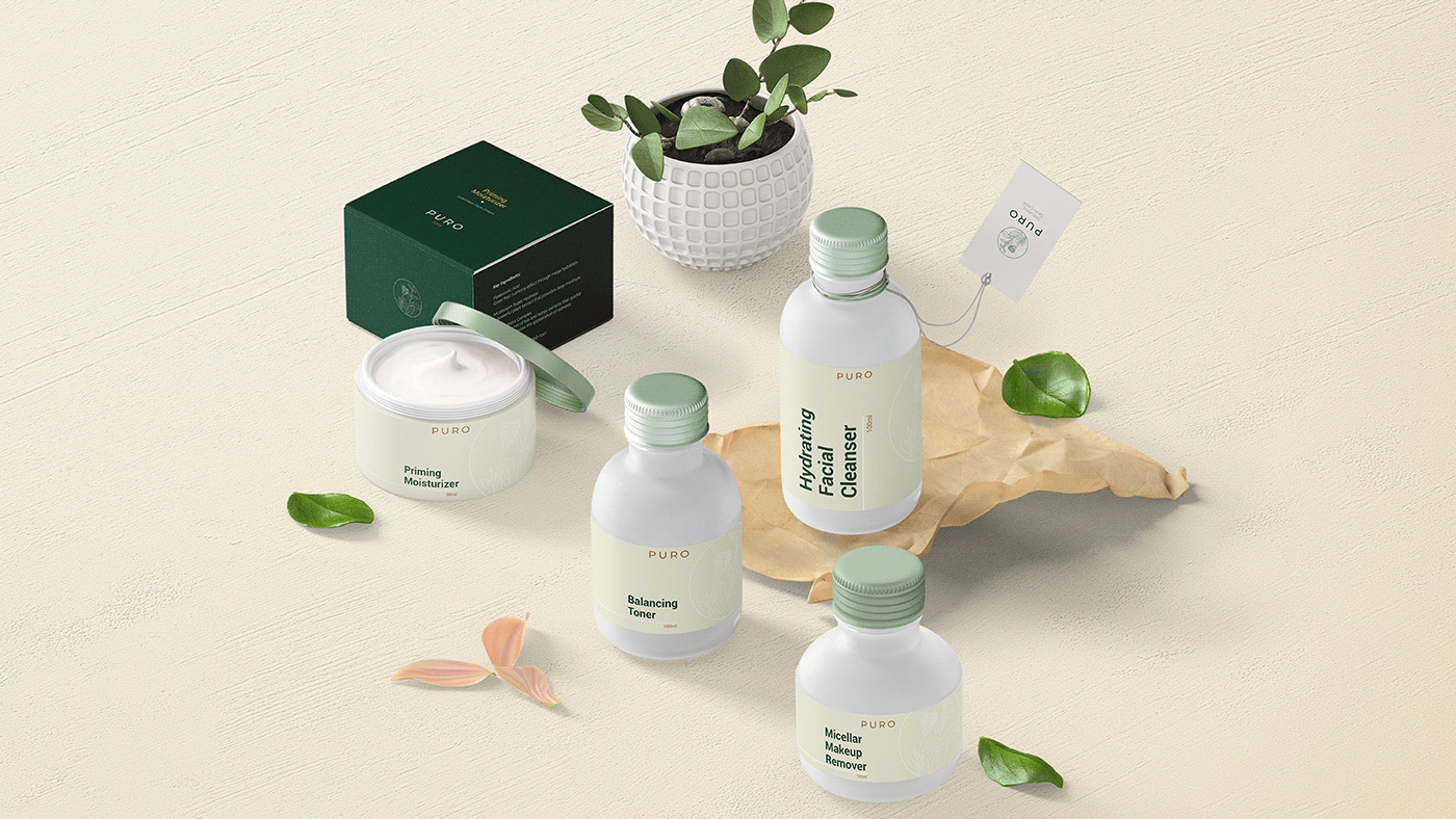 Signage cosmetics logo Packaging skincare Stationery visual identity branding  art direction