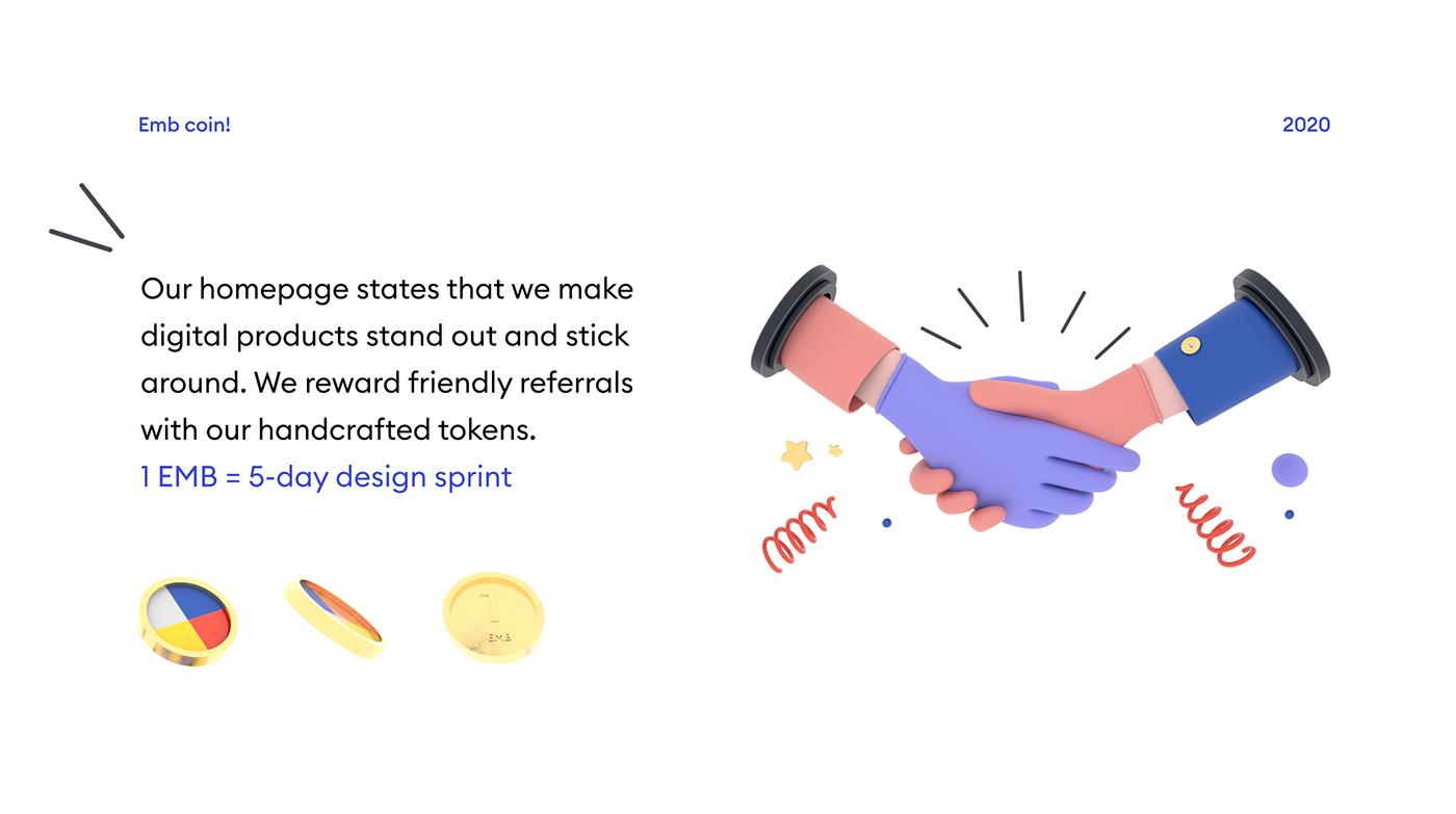 3D 3D illustration Fintech landing page Startup Webflow