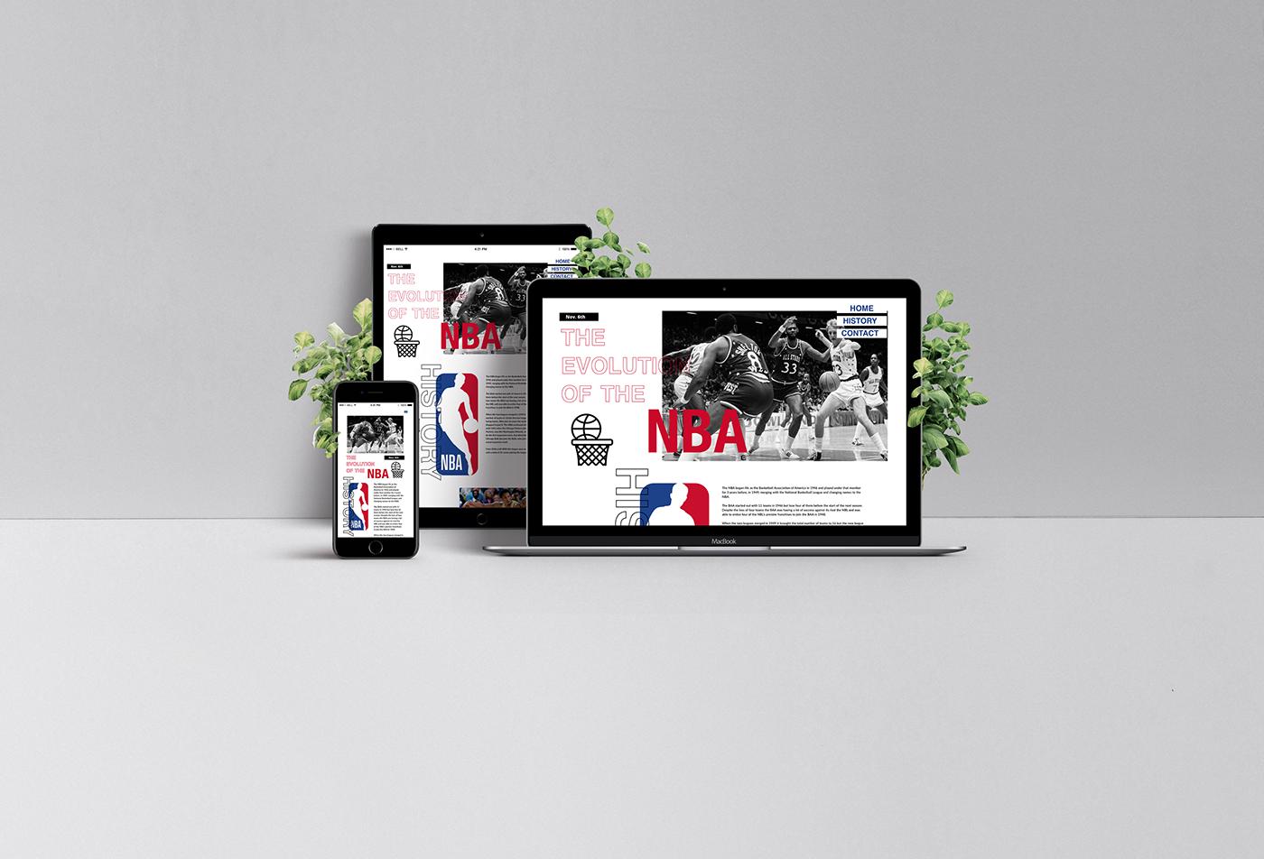 xddailychallenge basketball NBA UI ux Web Design  modern bold