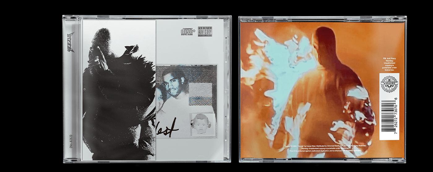 Album album cover art direction  cover design donda Kanye West music Music Packaging packaging design Yeezus