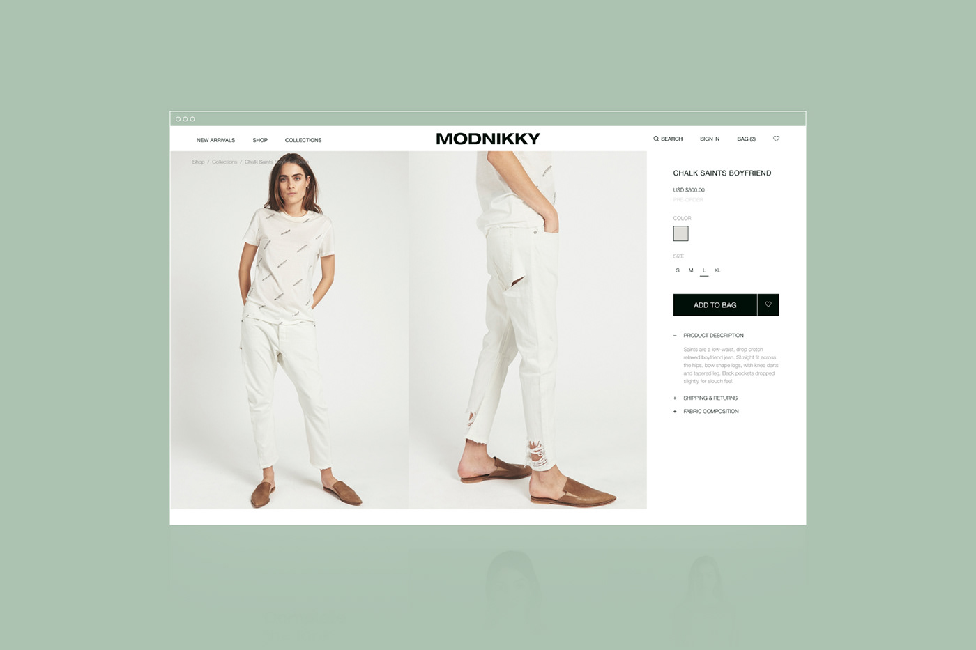 Ecommerce Fashion  store template free Figma
