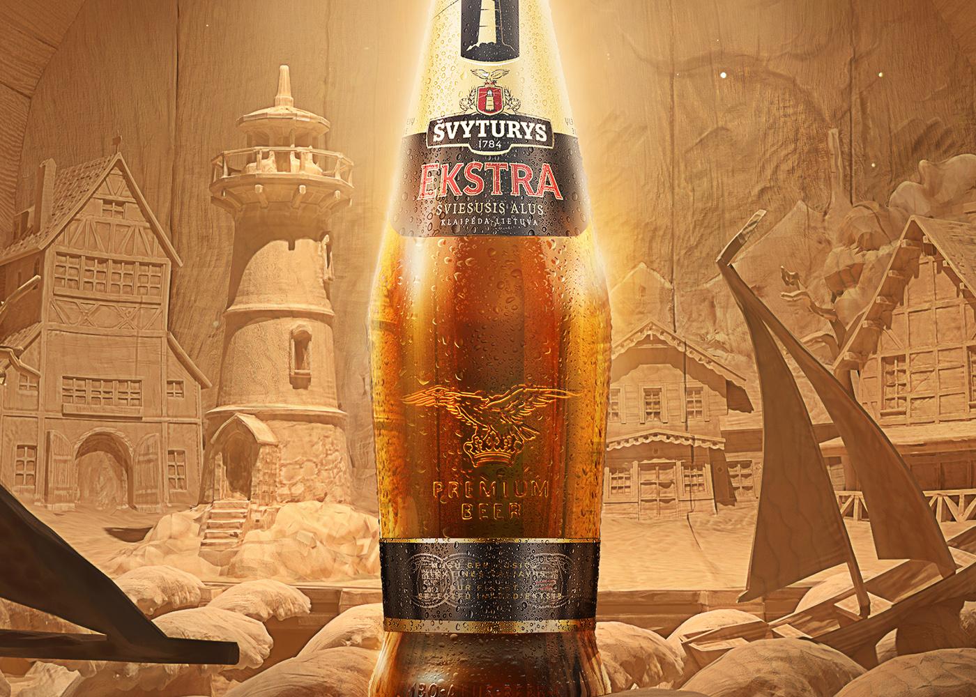 wood carving beer barrel port sea klaipeda lithuania Baltic