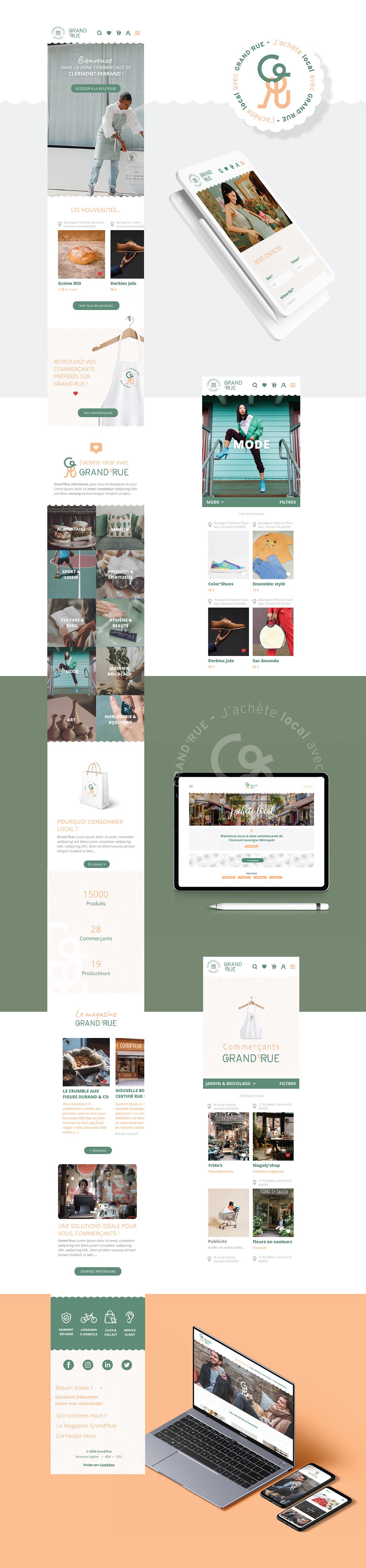 branding  commerce digital e-commerce local logo Logotype plateforme digital