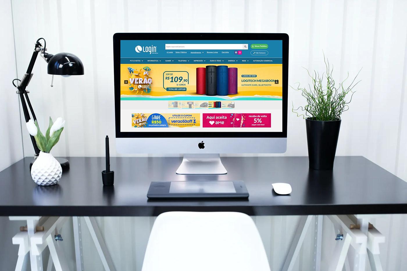 Image may contain: computer, wall and television