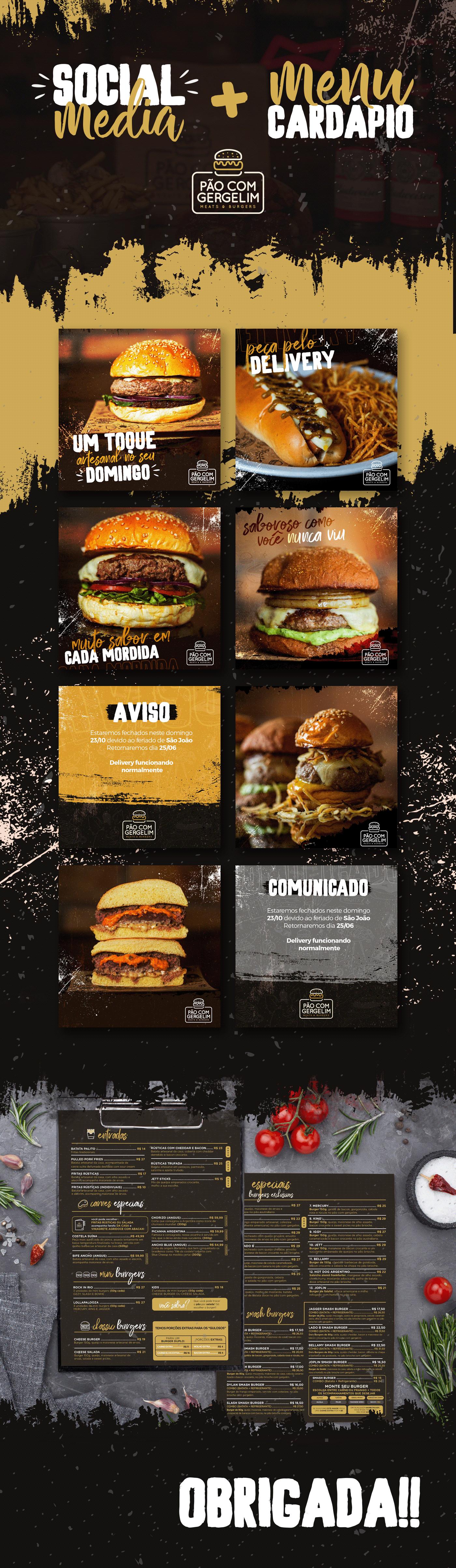 burger cardápio hamburguer hamburguer menu hamburgueria menu mídia social Pão com Gergelim social media textura
