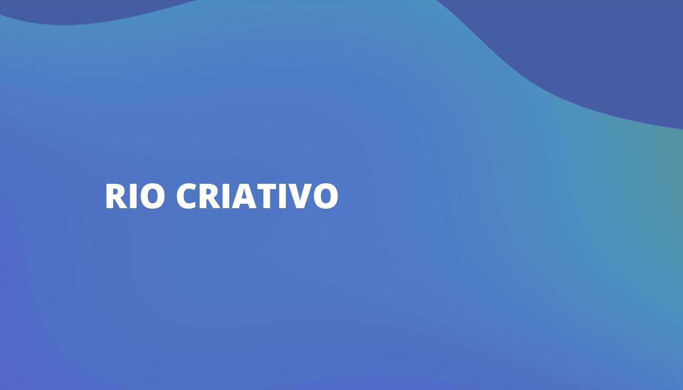 Rio Criativo Incubator portal Rio de Janeiro colorful Creative Economy entrepreneurs courses workshops dashboard