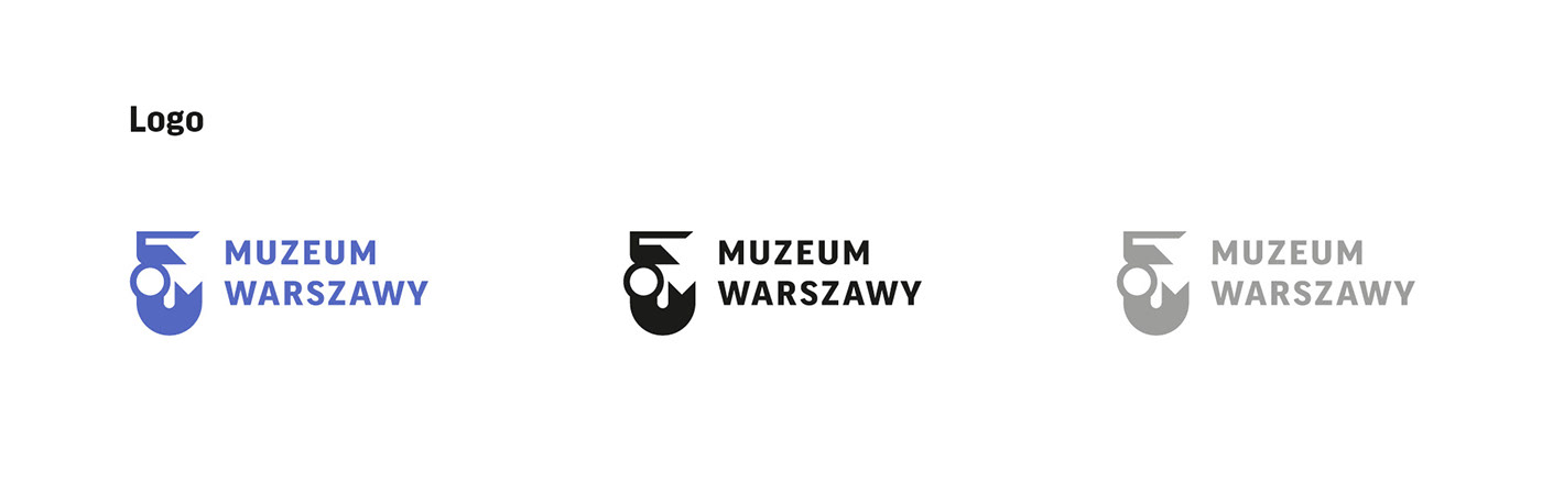 museum warsaw identity city culture logo mermaid blue typography   rebranding