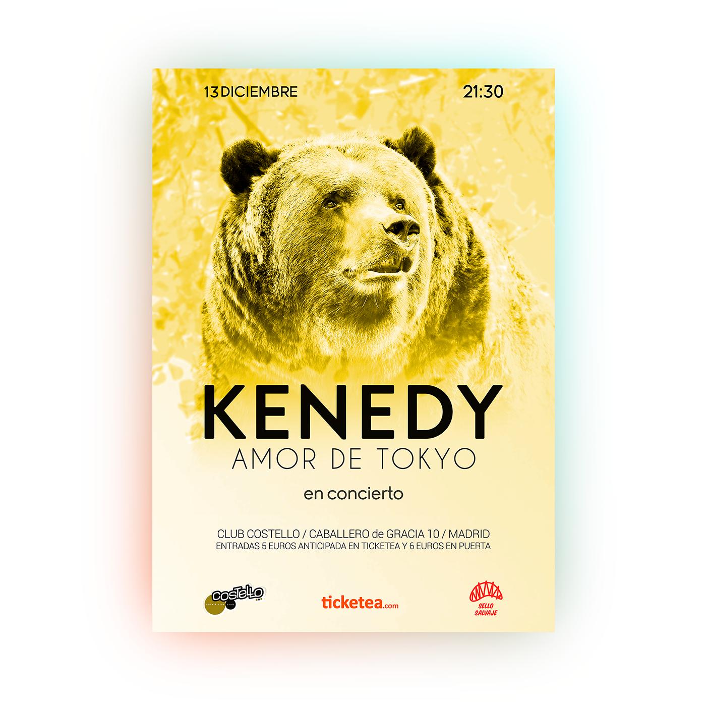 Art Director,graphic design ,poster,cartel,kenedy,music,guts,bear,tiger