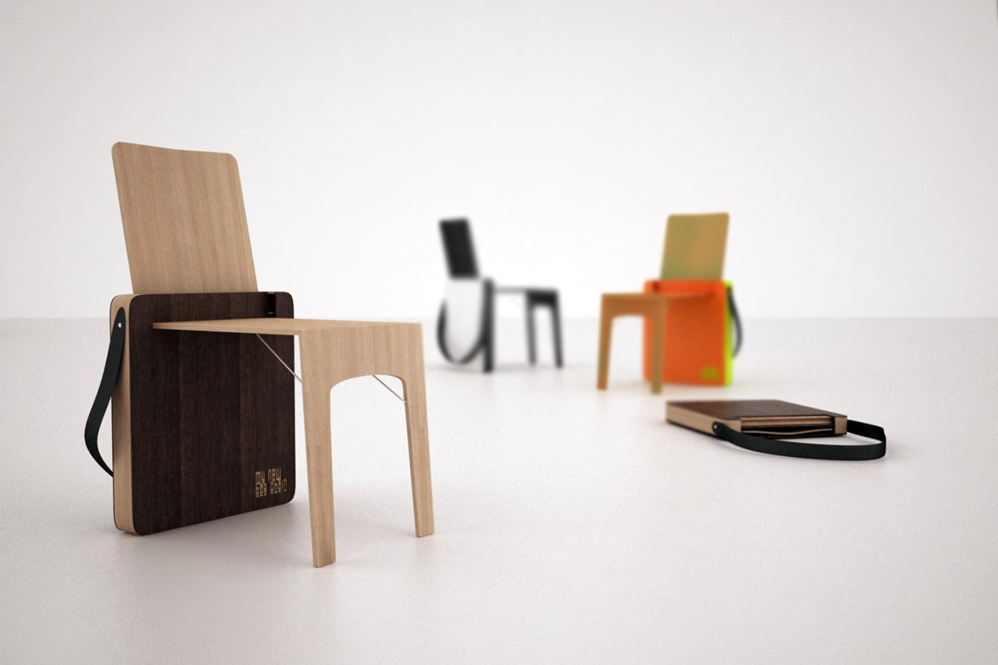 Surprising Bag Chair Folding Chair On Behance Inzonedesignstudio Interior Chair Design Inzonedesignstudiocom