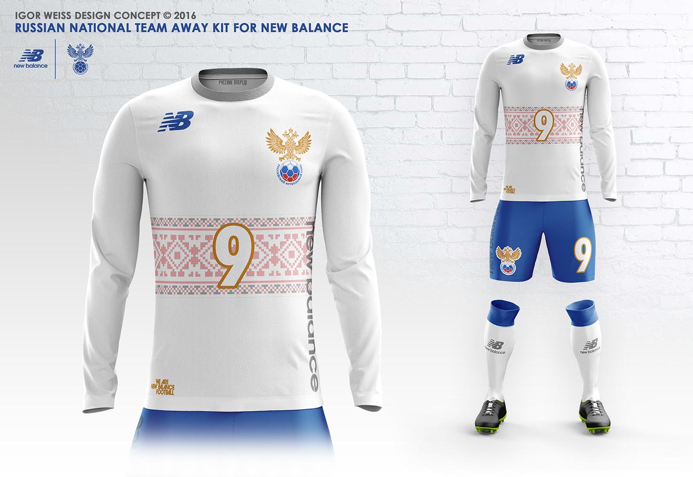 reputable site 079e7 6b6c0 RUSSIA ✕ NEW BALANCE CONCEPT KITS SOCCER-FOOTBALL on Behance