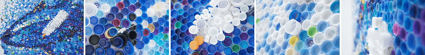 WWF Ocean pollution plastic green waste campaign craft Bottle Caps recycle