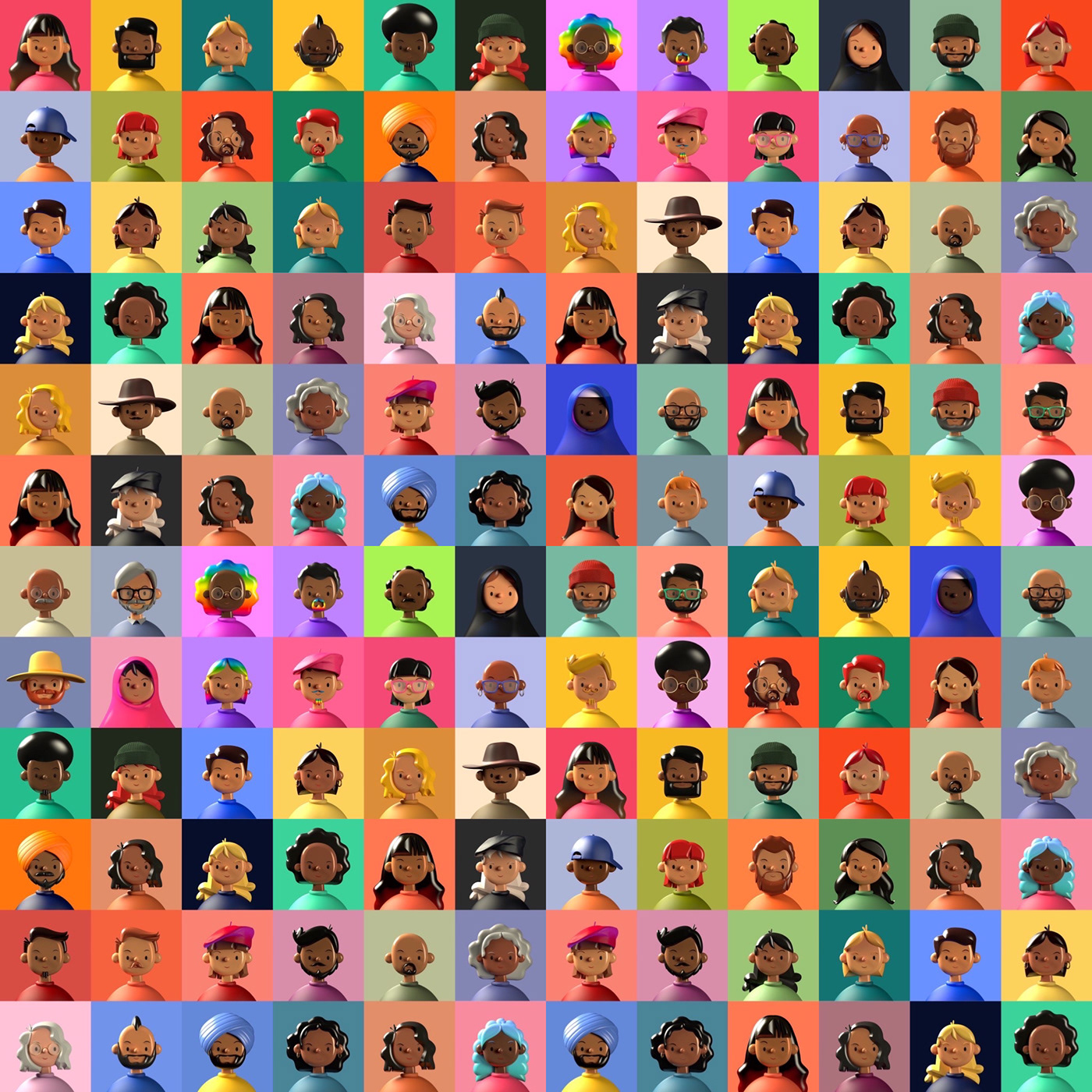3D avatar c4d Character diverse Emoji free pride profile redshift