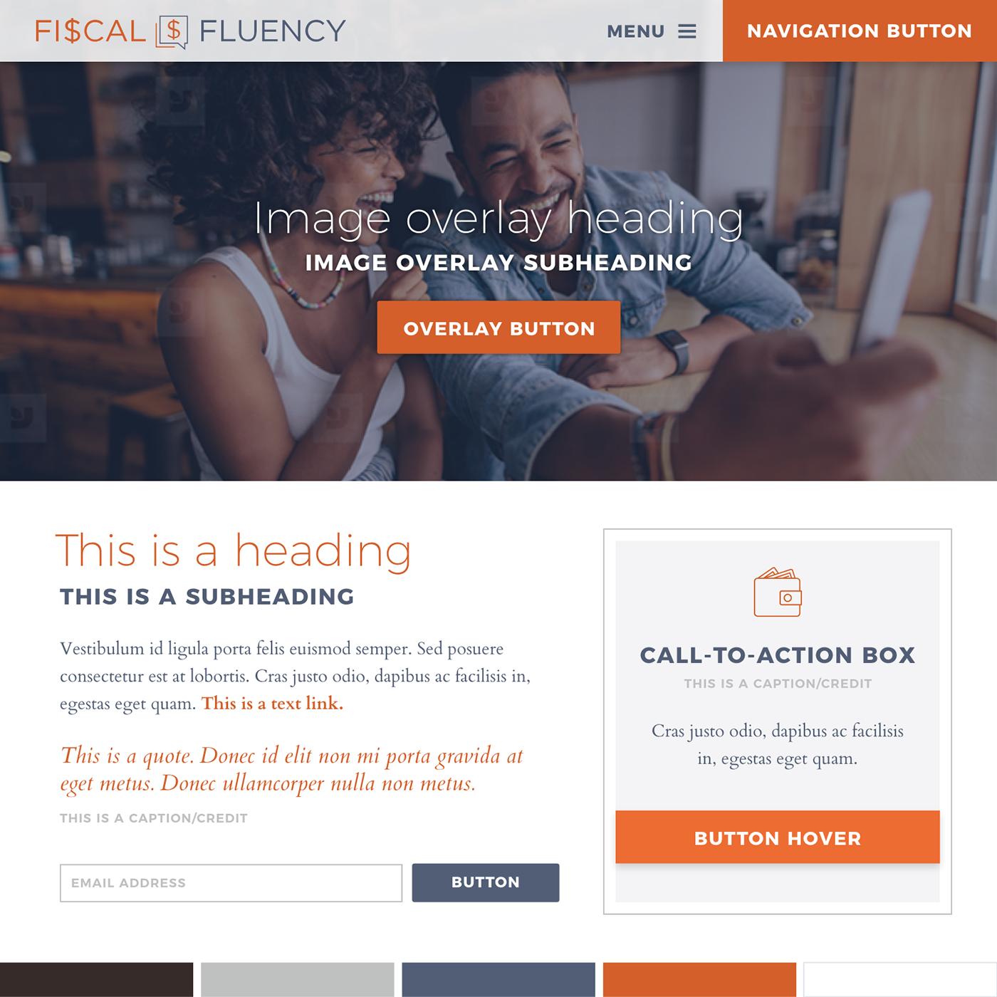 Website Design for Financial Coach