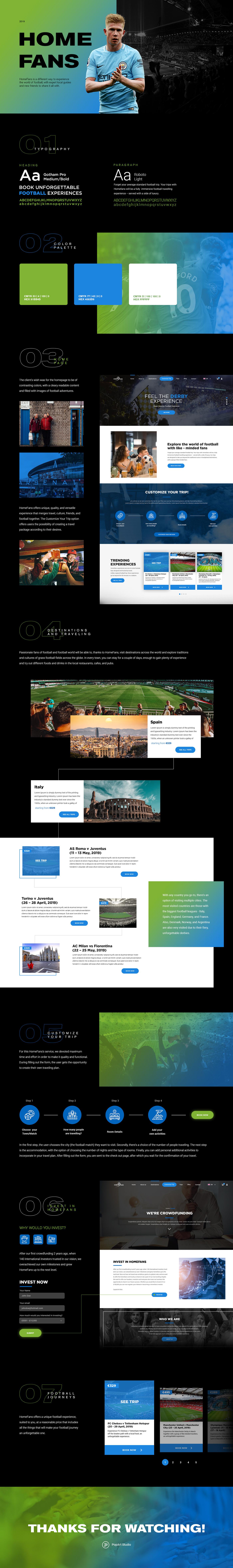 destination fans football soccer Travel UI UserExperience UserInterface Webdesign Website