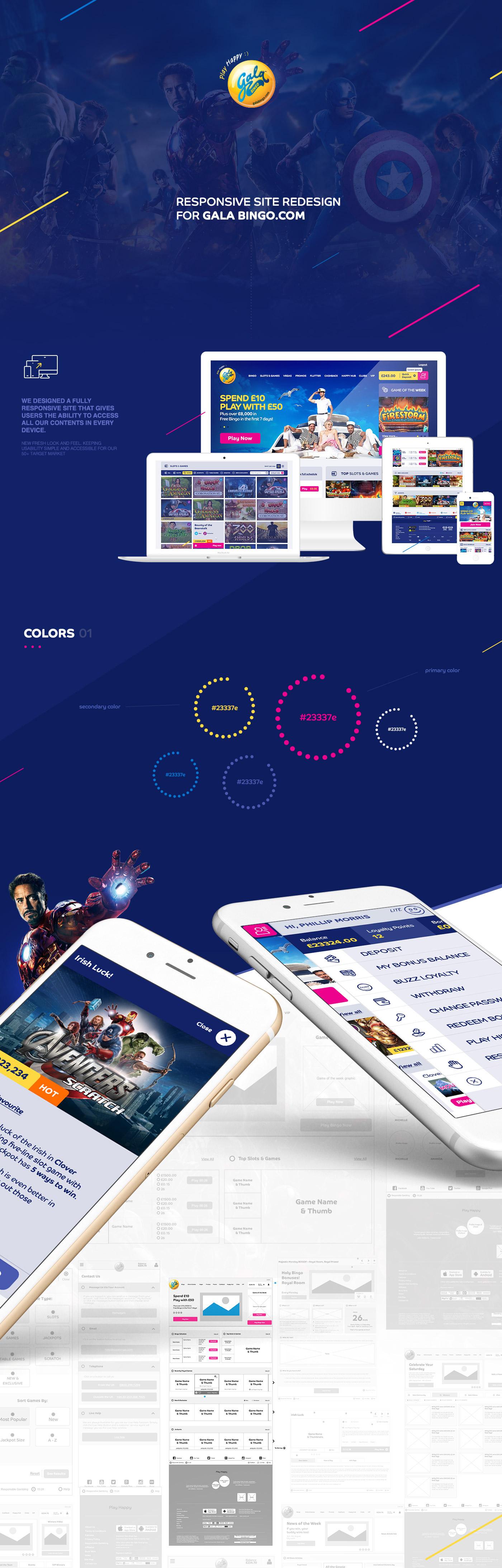 bingo casino Gaming Responsive eGaming clean modern app UI Interface