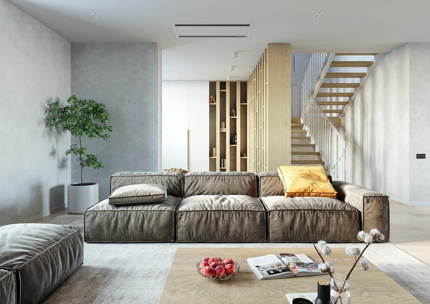 livingroom townhouse on behance