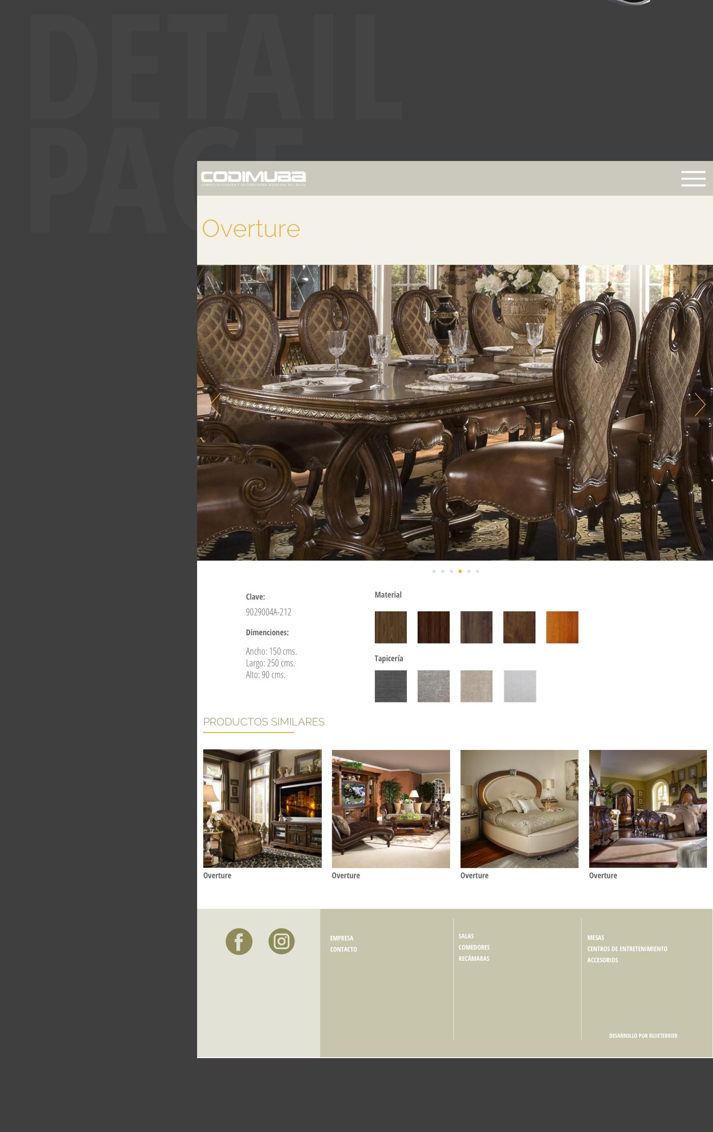 Website furniture Responsive Bootsrap mobile
