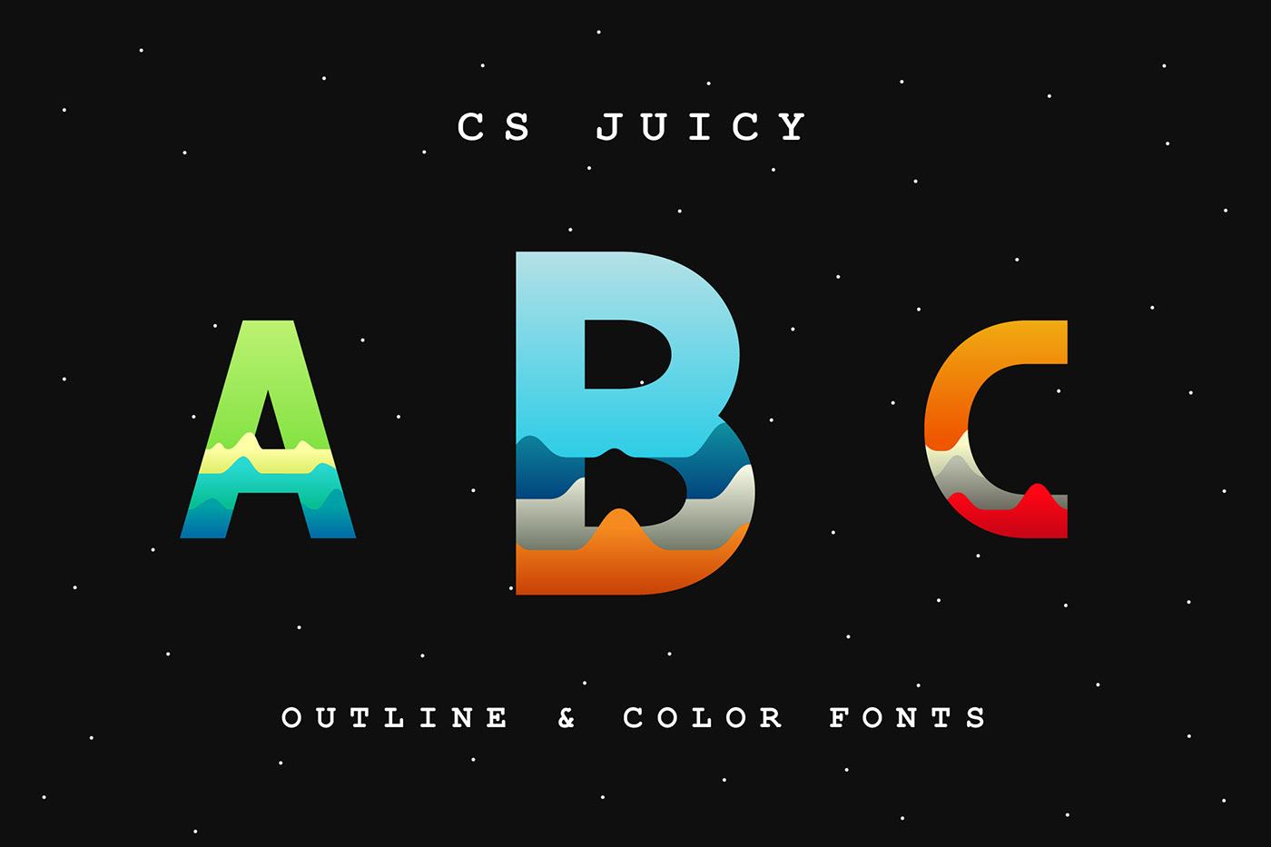 font free download freebies vintage illustrations Display color font colorful bold sans