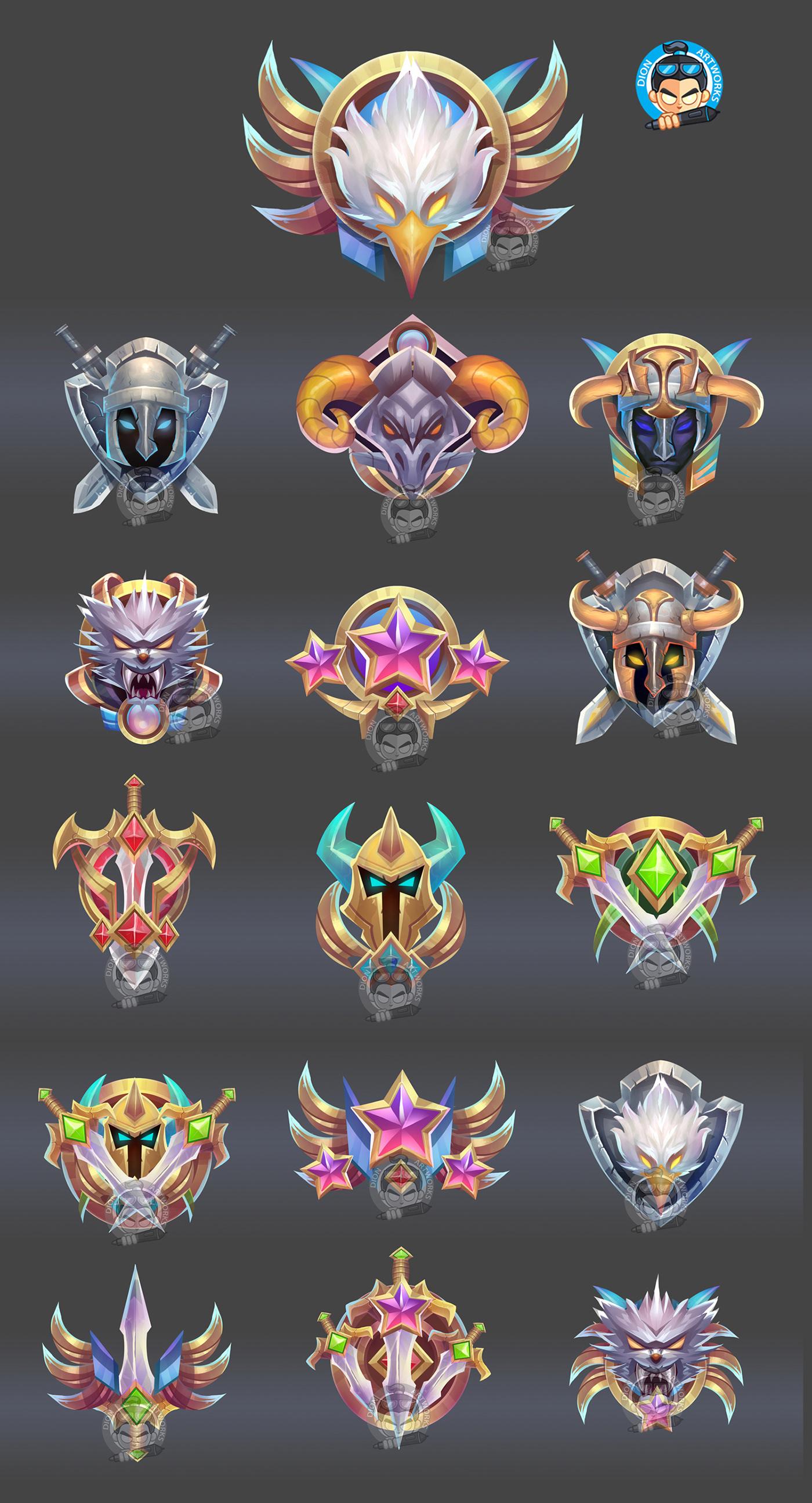 achievement asset badge game icons ILLUSTRATION  rpg