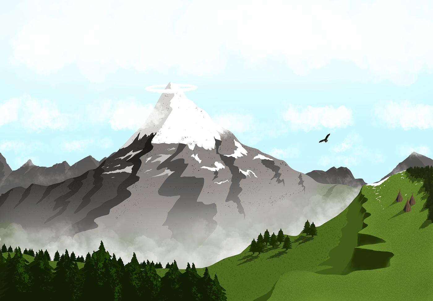 mountains Outdoor Procreate