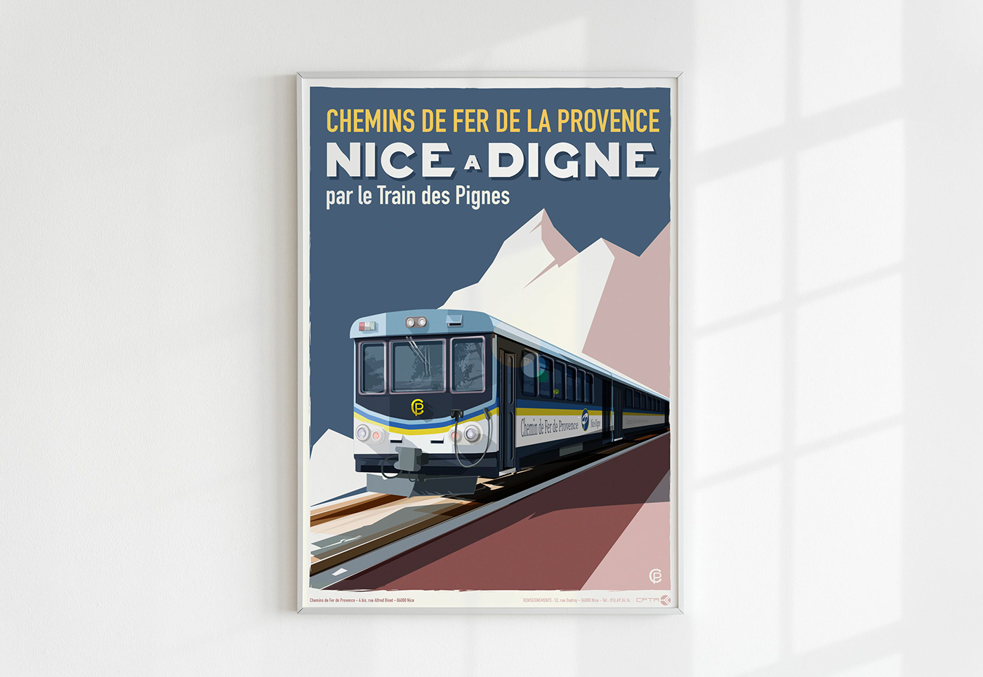 affiche Nice Digne les bains lecoupdulapin nice nissarde nissarde.com poster Nice train des pignes Ville de Nice
