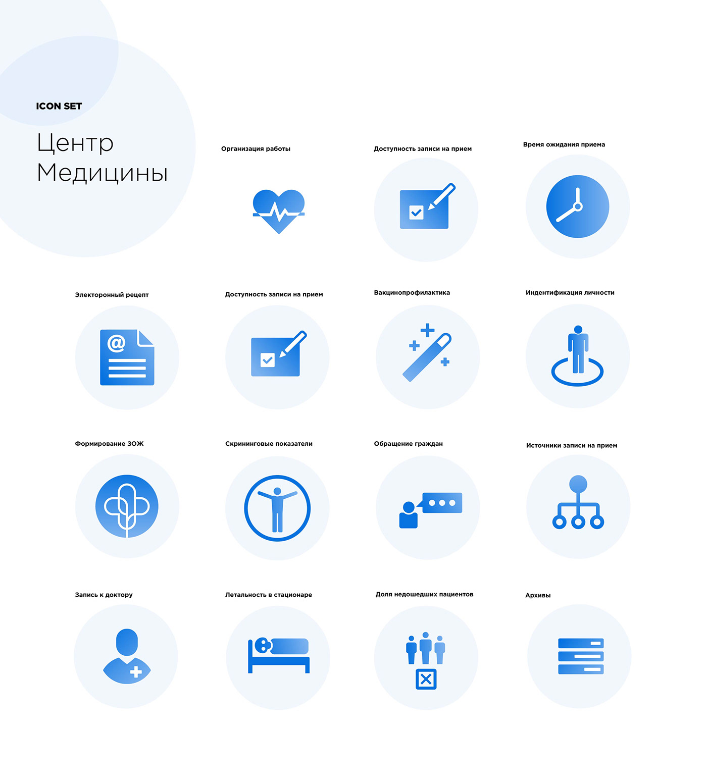 digital agency storage of things medical center icon set icon pack icons banner SMM пост smm banner